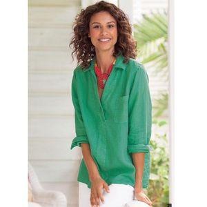 Soft Surroundings•Liana 100% Linen XL Blouse